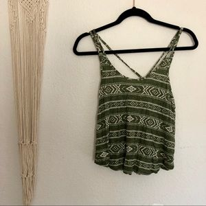 Tribal Crop Tank Top